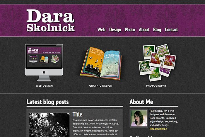 Here's the old site, in case you've already forgotten. Or never saw it in the first place. Either way.