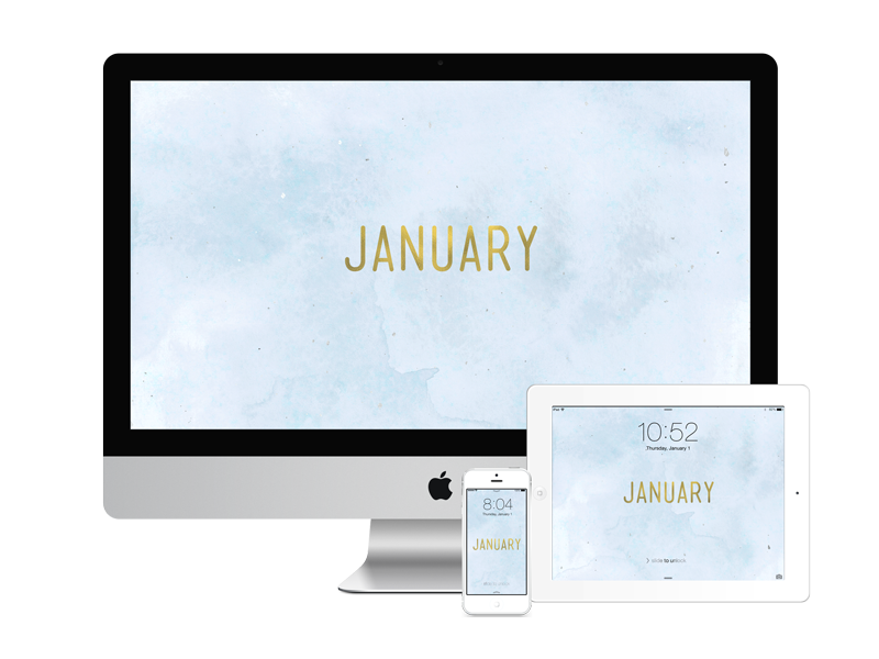 January wallpapers for desktop, tablet and mobile by Dara Skolnick