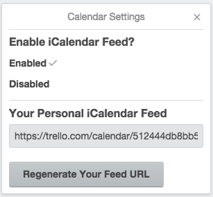 Click on the settings cogwheel and then enable the calendar feed
